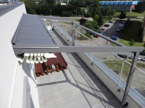 Pergola na střeše obytného domu 1