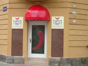 Košová markýza nad vchodem Benešov