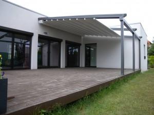 Pergola se stahovací střechou