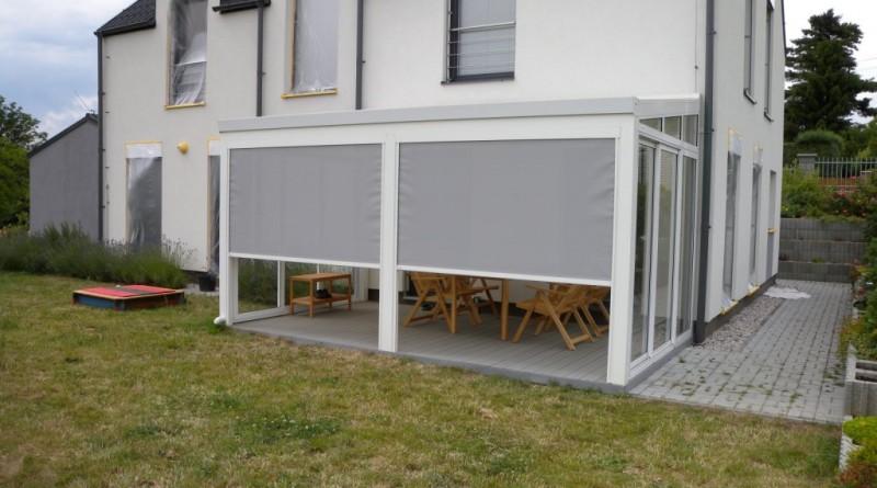 Screenové rolety pro pergoly a zimní zahrady