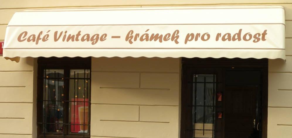 Košová markýza Cafe Vintage